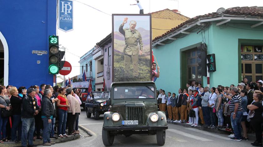 Recuerdan en Sancti Spíritus entrada de la Caravana de la Libertad