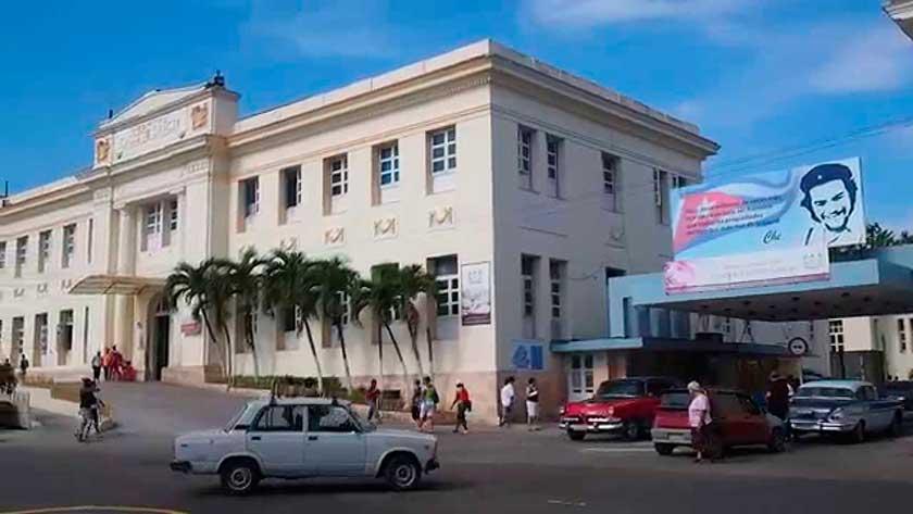 Nota informativa del Hospital Calixto García, de La Habana