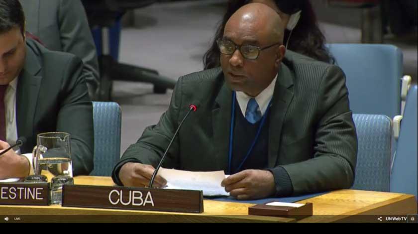 Reitera Cuba en la ONU su invariable solidaridad con el gobierno y el pueblo palestinos