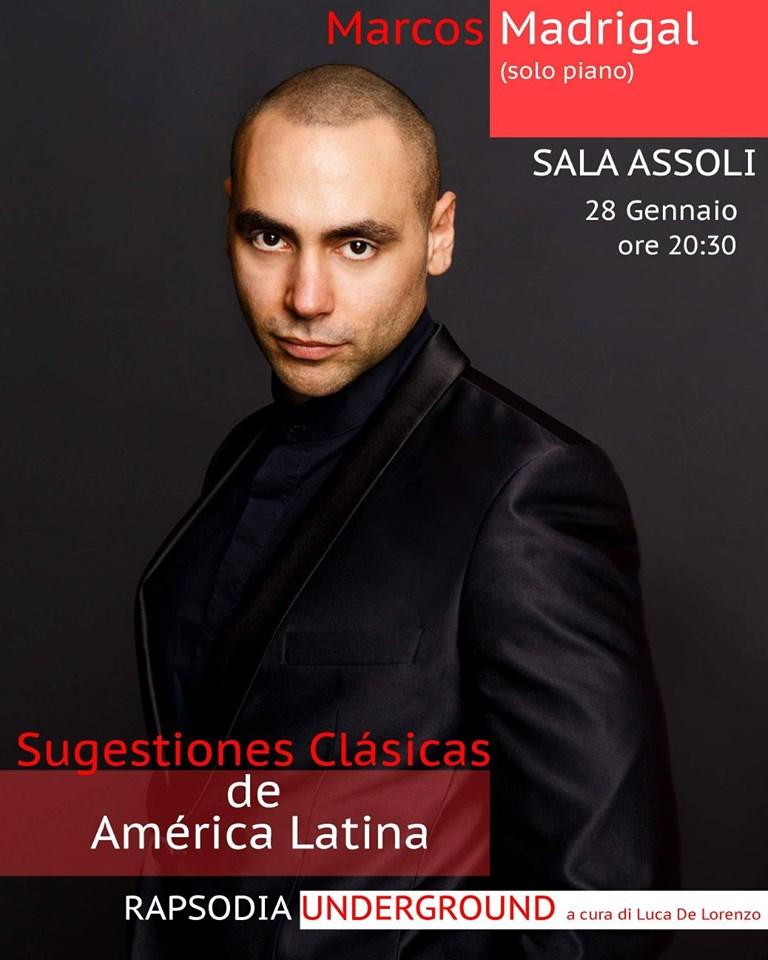 Pianista cubano Marcos Madrigal representará la música clásica latina en Italia