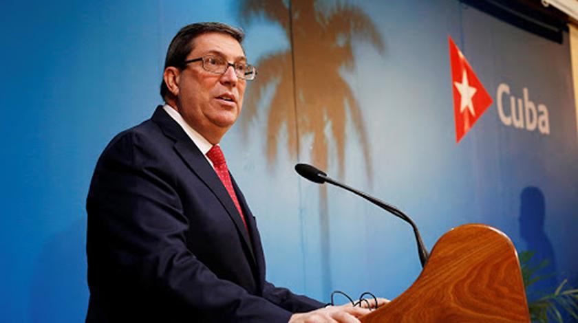 Presidente Trump está desesperado, afirma canciller de Cuba