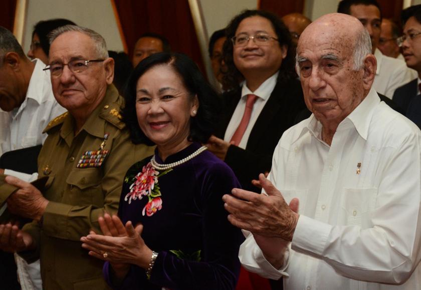 Recibió Machado Ventura a dirigente partidista de Vietnam