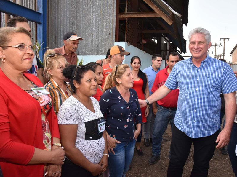 Entidades económicas centraron el recorrido de la visita gubernamental a la provincia de Cienfuegos (+Fotos)