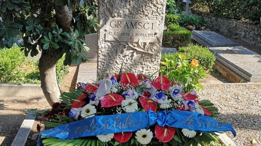Homenaje de Cuba a Antonio Gramsci en Roma