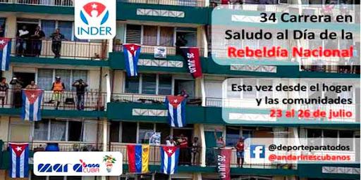 Participan cubanos en carrera virtual en saludo al 26 de julio