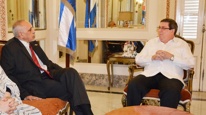 Intercambia Canciller cubano con embajador de República Árabe Saharaui Democrática