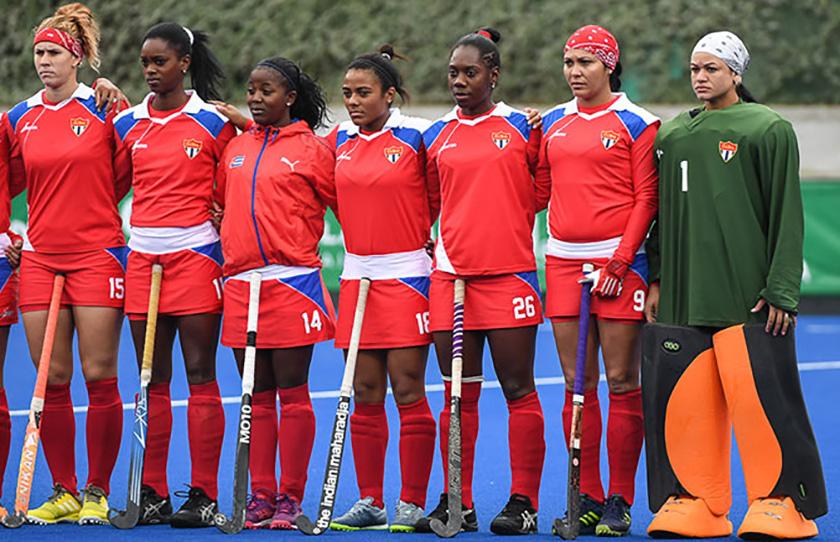 Les présélections cubains de hockey sur gazon maintiennent leur préparation physique
