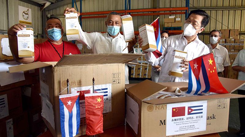 Recibe Cuba donativo del Partido Comunista chino
