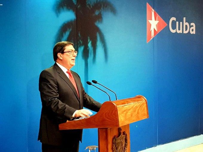 Denuncia Bruno Rodríguez que ataque a embajada cubana responde a política agresiva estadounidense