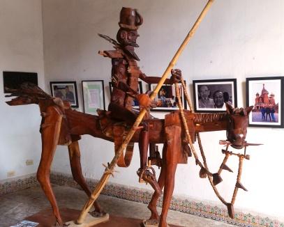 Museum of Cuban Playwrights Wooden Sculptures under restoration