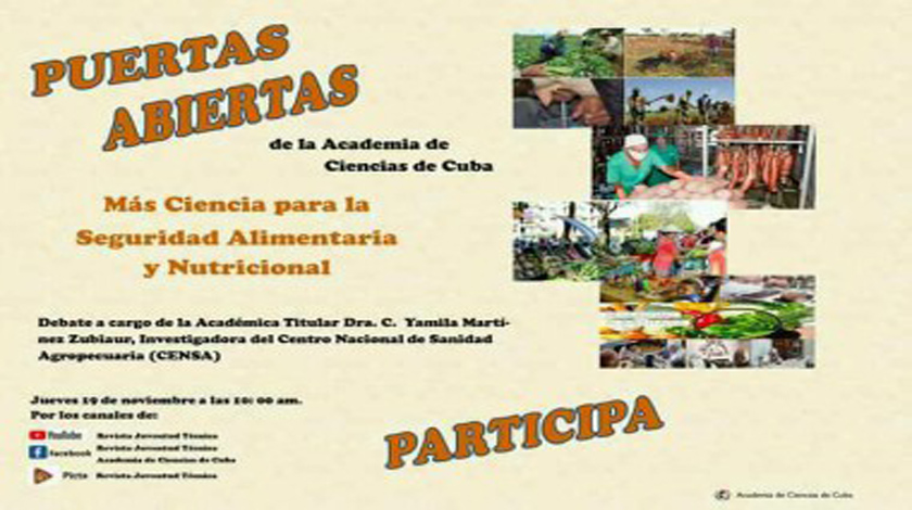 Cuban Academy of Sciences will discuss scientific work to support agriculture