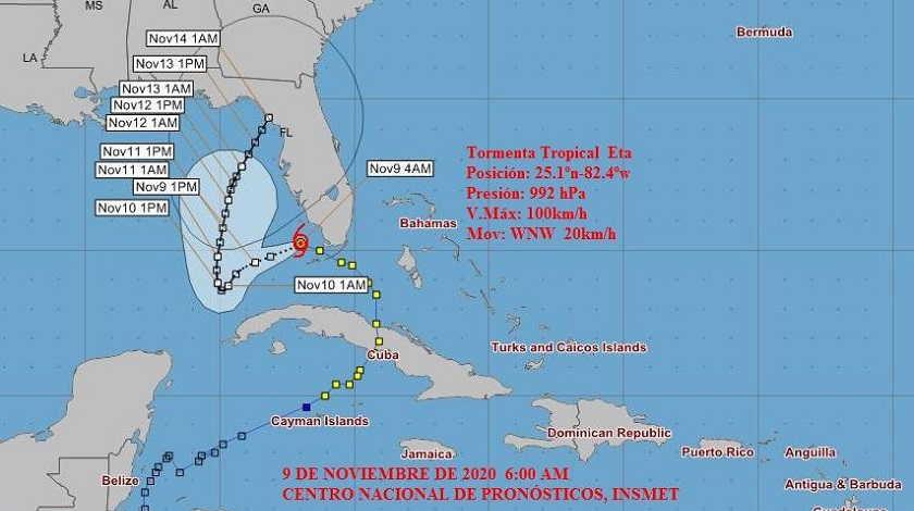 Eta se debilita, pero persisten lluvias sobre Cuba