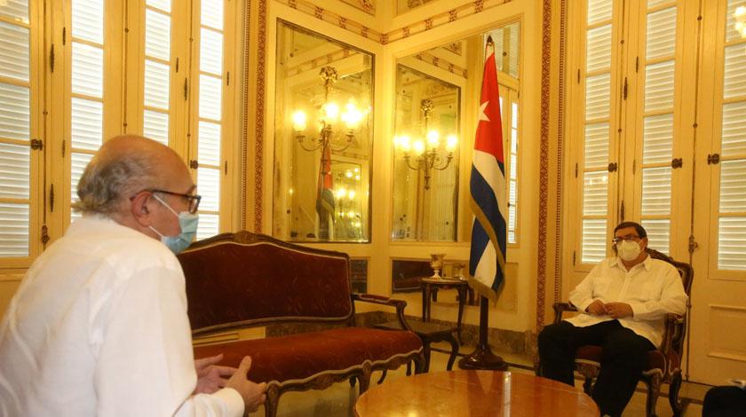 Recibió Canciller cubano a embajador del Reino de España