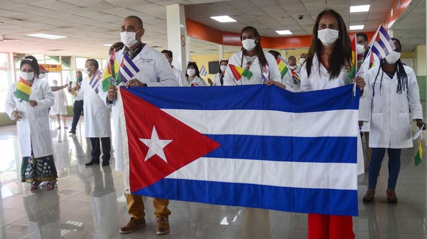 Aujourd'hui, tweet pour les médecins cubains