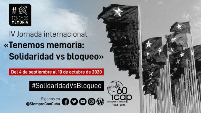 Contundente rechazo en evento virtual al bloqueo de Estados Unidos a Cuba