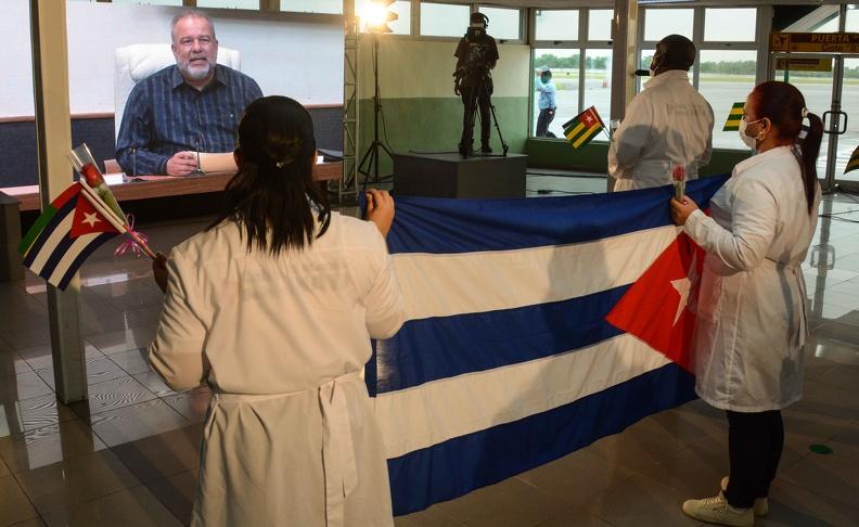 Dans la patrie, brigade médicale cubaine qui a combattu le Covid-19 au Togo