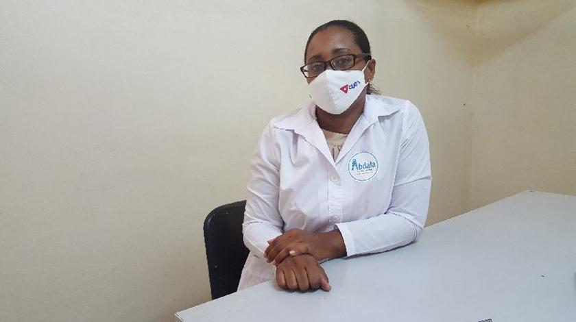 Dra Lenia Rodríguez, investigadora responsable del estudio Abdala en policlínico Camilo Torres en Santiago de Cuba.