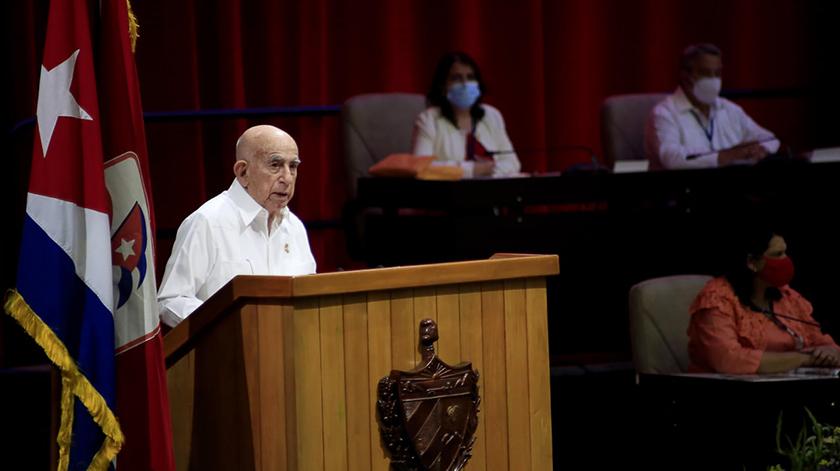 José Ramón Machado Ventura, Segundo Secretario del PCC en el 8vo Congreso del Partido Comunista de Cuba