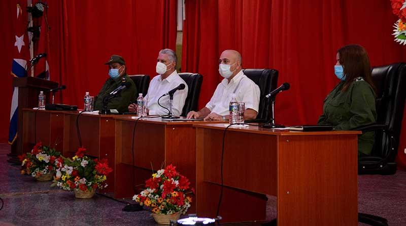 Primer secretario del Comité Central del Partido presidió pleno extraordinario del PCC en Cienfuegos