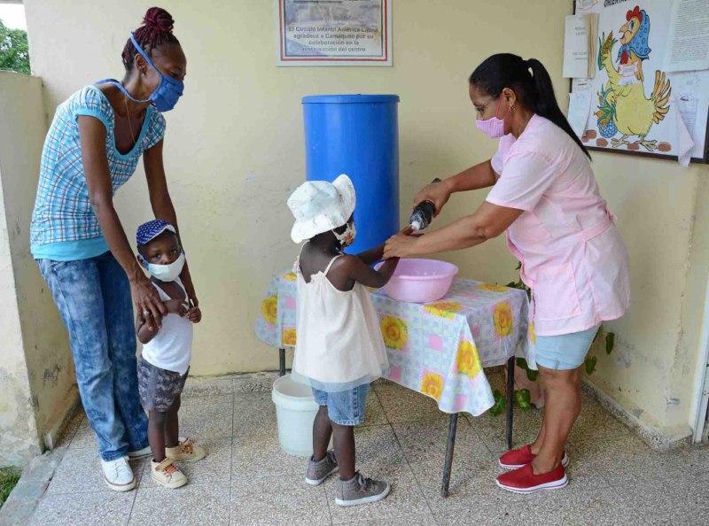 Extreman medidas higiénico-sanitarias en círculos infantiles camagüeyanos (+ Audio)