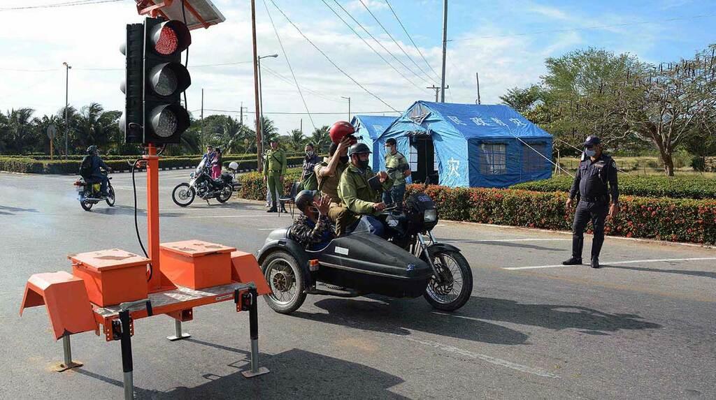 Funcionan nuevos puntos de control sanitario en Camagüey ante la Covid-19