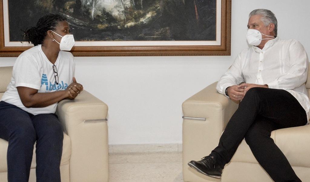 Sostienen encuentro amistoso Díaz-Canel y Directora Ejecutiva de Pastores por la Paz