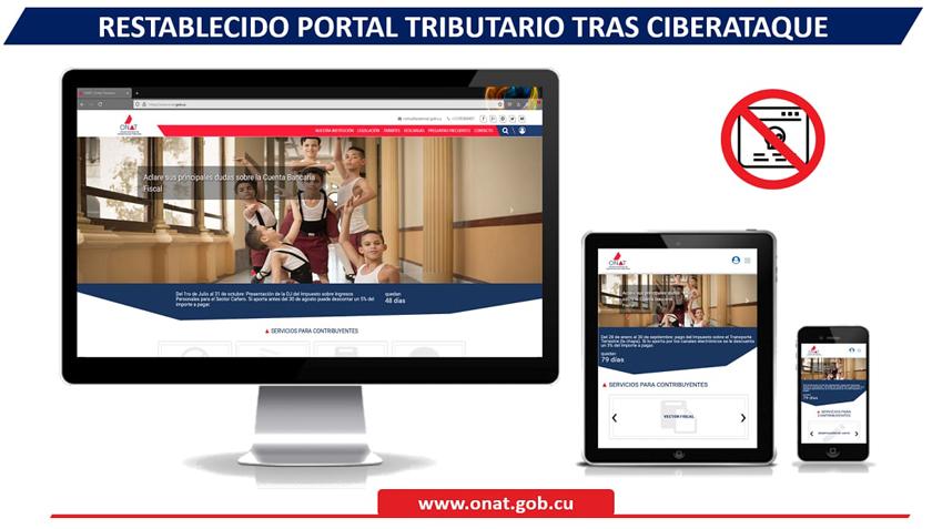 Nuevamente en línea Portal Tributario tras sufrir ciberataque