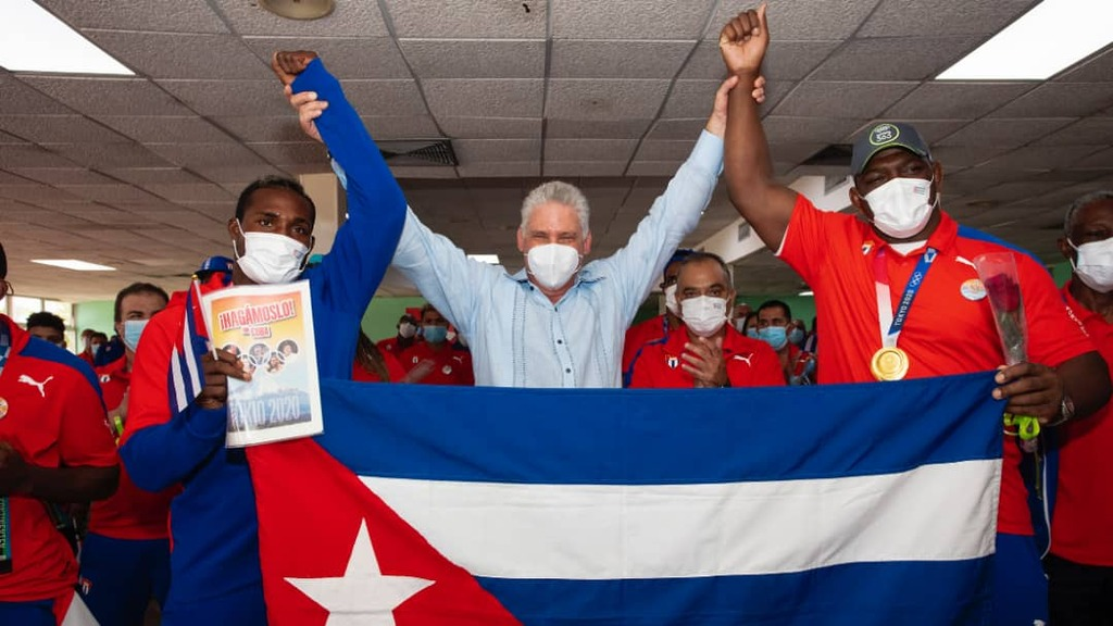 Los deportistas cubanos realizaron una hazaña, afirma Díaz-Canel