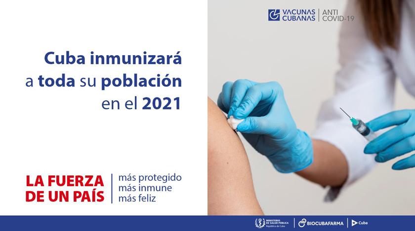 Toda la población de Cuba será inmunizada frente a la COVID-19 en 2021
