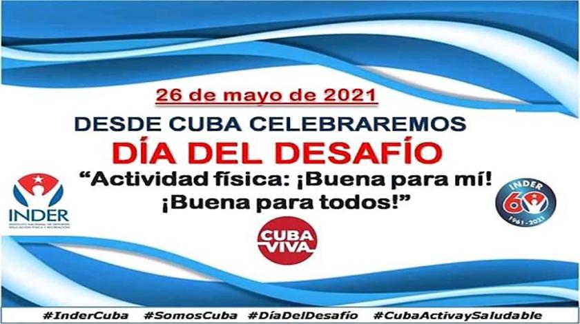 Convocada por el Instituto Nacional de Deportes, Educación Física y Recreación (Inder), se realizará hoy en Cuba la carrera-caminata por el Día del Desafío, que desde el 2003 busca incentivar a las personas a ponerse en movimiento para bien de su salud.