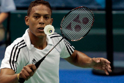 Cuban badminton player debuts in US tournament