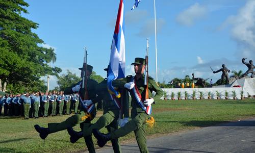 Ofrendas de Fidel, Raúl y el pueblo de Cuba al esclavo rebelde