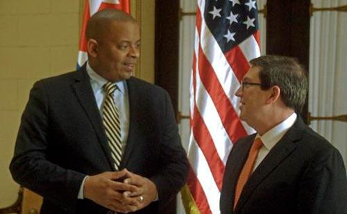 Recibió Canciller cubano a Secretario de Transporte de los Estados Unidos