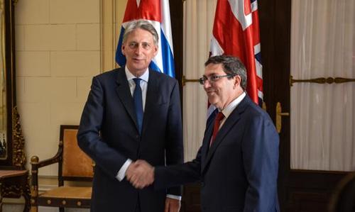 Expresan Cuba y Reino Unido voluntad de ampliar nexos bilaterales