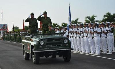 Felicitación de presidente cubano Raúl Castro al Ejército Central por sus 55 años