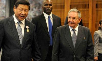 Xi Jinping exprime à Raul sa volonté d'écrire ensemble un nouveau chapitre de l'amitié entre la Chine et Cuba