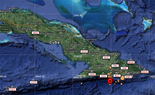 Sismos perceptibles en Stgo de Cuba, Guantánamo, Granma y Holguín
