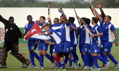 Equipo cubano de hockey sobre césped masculino también se llevó el oro
