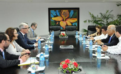 Recibió vicepresidente cubano al Ministro Presidente de Flandes